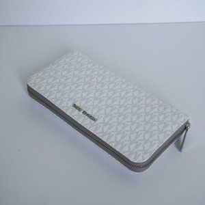 Michael Kors Jet Set XL ZA Wallet White Grey